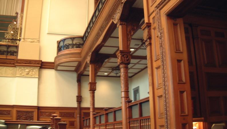 Entrance Of The Legislative Chamber Sculpted Cartoon Queen Victoria Dining Room